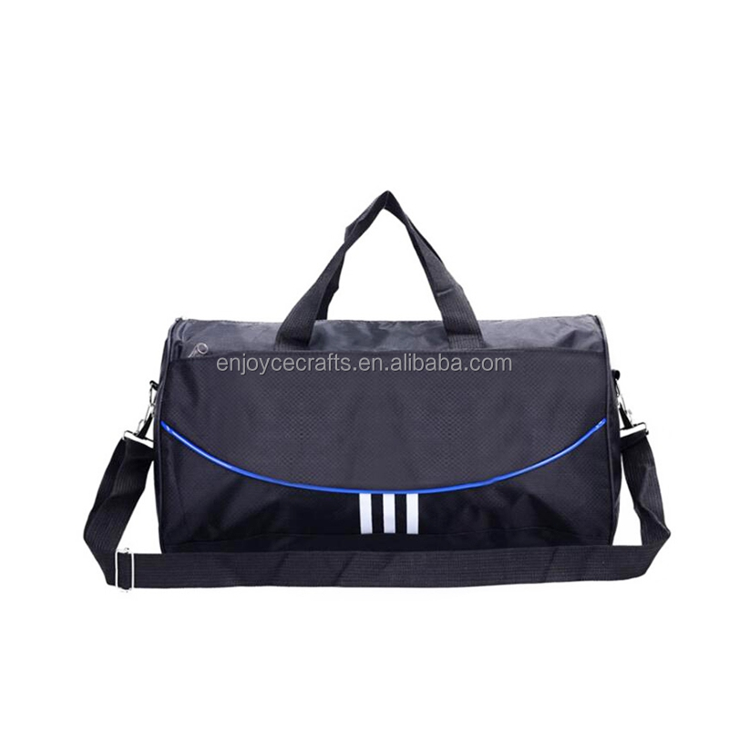 Hot selling polyester material gym shoulder duffle baggage bag