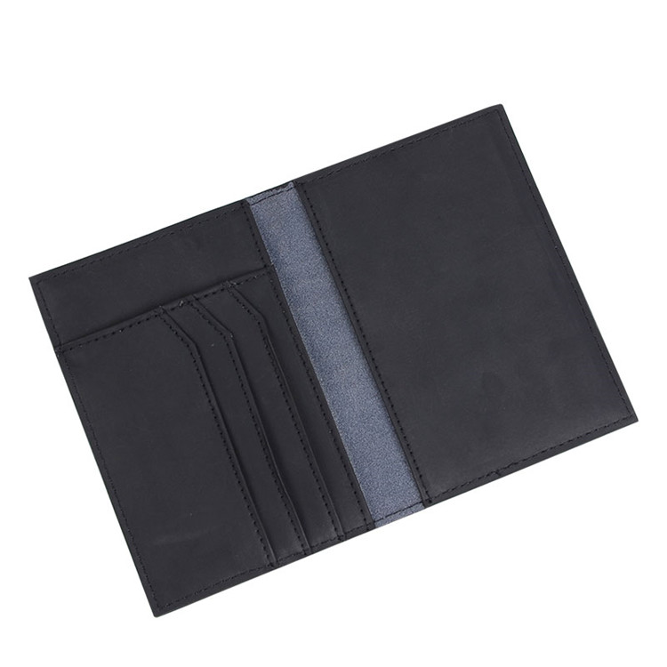 Mens Black RFID Italian Travel Wallet Leather Passport Holder