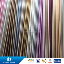 Soft shimmer satin plain weave curtain fabric for home decration