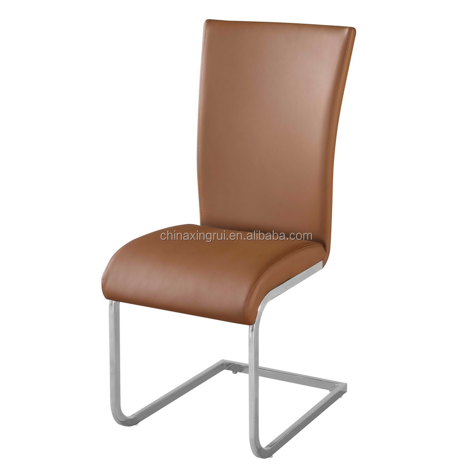 New modern chair luxury dining chair PU leather cover simple designed U shape chair