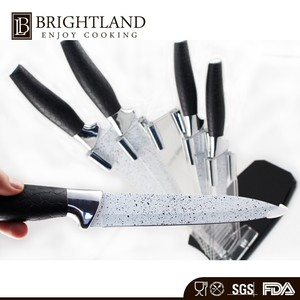 Comfortable Rubber Handle stainless steel kitchen knife set