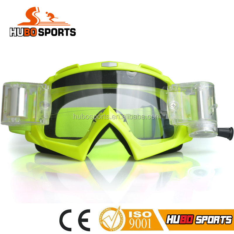 Safety MX motorcycle goggle CG125 with dust proof equipment roll off systems HB-157