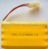 Ni-CD AA Industrial Rechargeable Battery Pack 9.6V 500mAh
