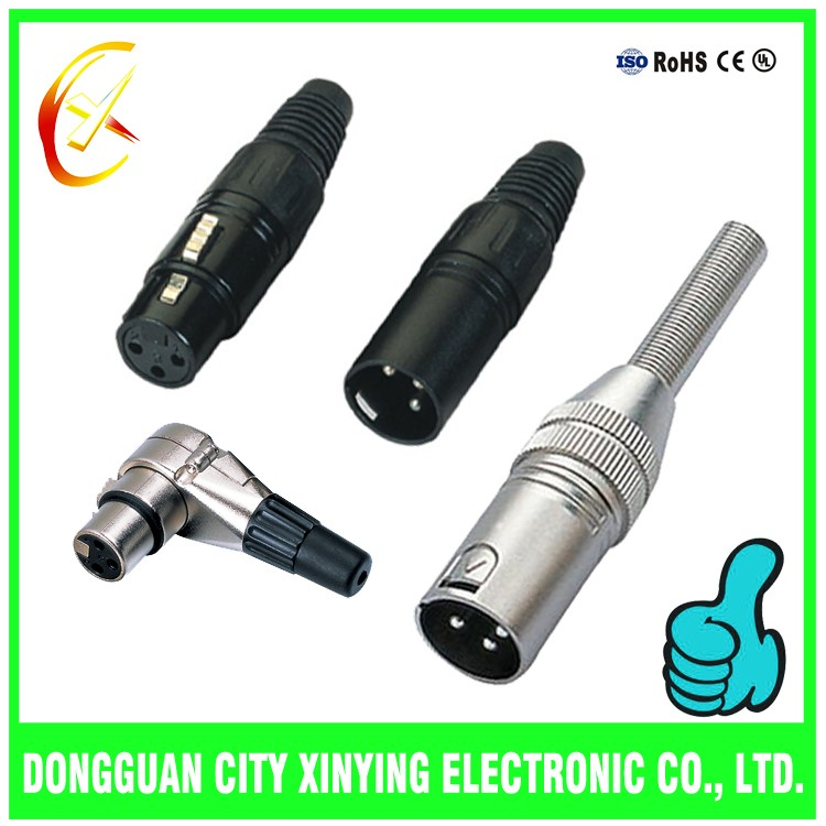 china factory xlr to stereo jack xlr connector pcb mount