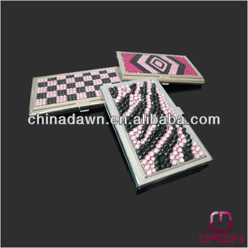 Plain metal business card holder for promotion CD-NCD