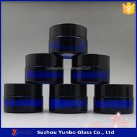 20 ml Blue Wholesale Glass Jars, Cosmetic Jars, Cream Glass Jars