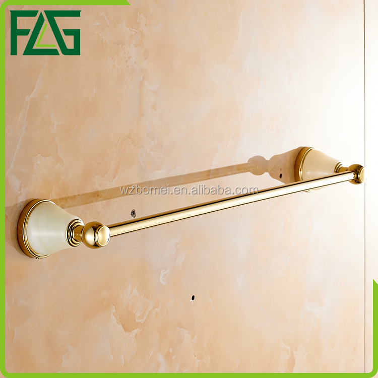 Household Hotel Bathroom Accessories Wall Mounted Jade Towel bar