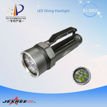 High Power 3500LM 4xCREE XML2 flesh torch shocker LED Professional floating led flashlight diving light