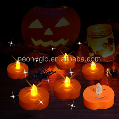 Halloween and Christmas Party Decoration Flamless LED Pumpkin Tea Light Candles as a Flashing Gigt for Promotion