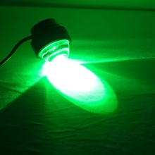 Factory direct wholesale 15F 15W Green Light 3 LED Metal Eagle Eyes Car Flash Light Lamp,daytime light