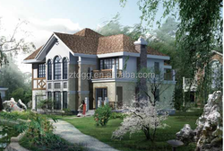 Residential steel houses prefab home light steel villa