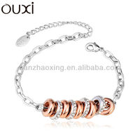 OUXI 2015 Hot Sale Bead Bracelet with Austrian Crystal