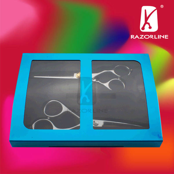blue Hair aluminum scissor case