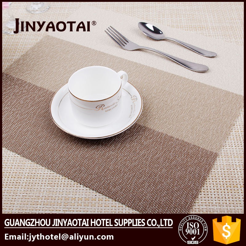 hotel manufacter eco-friendly new design good promotion metal placemat