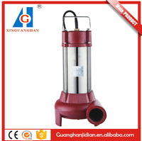 Automatic control 1.5inch 2.2KW cast iron low pressure single phase cutting submersible water pump