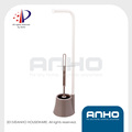 Anho patent design good grip toilet brush bowl and roll holder - free standing, choice of color