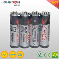 r6 aa battery 1.5v carbon zinc battery