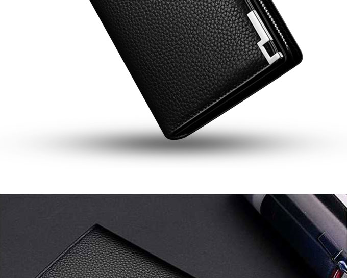 Klassieke lange PU telefoon purse business leather card wallet voor mannen