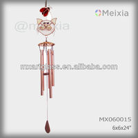 MX0600015 wholesale tiffany style stained glass craft cat ladybug decoration metal wind chime