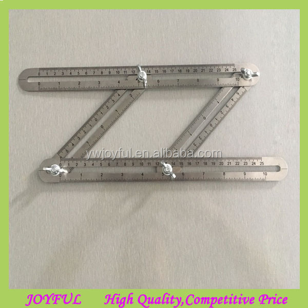 2017 Newest Stainless Steel Metal Multi Angle Ruler Angleizer Template Tool