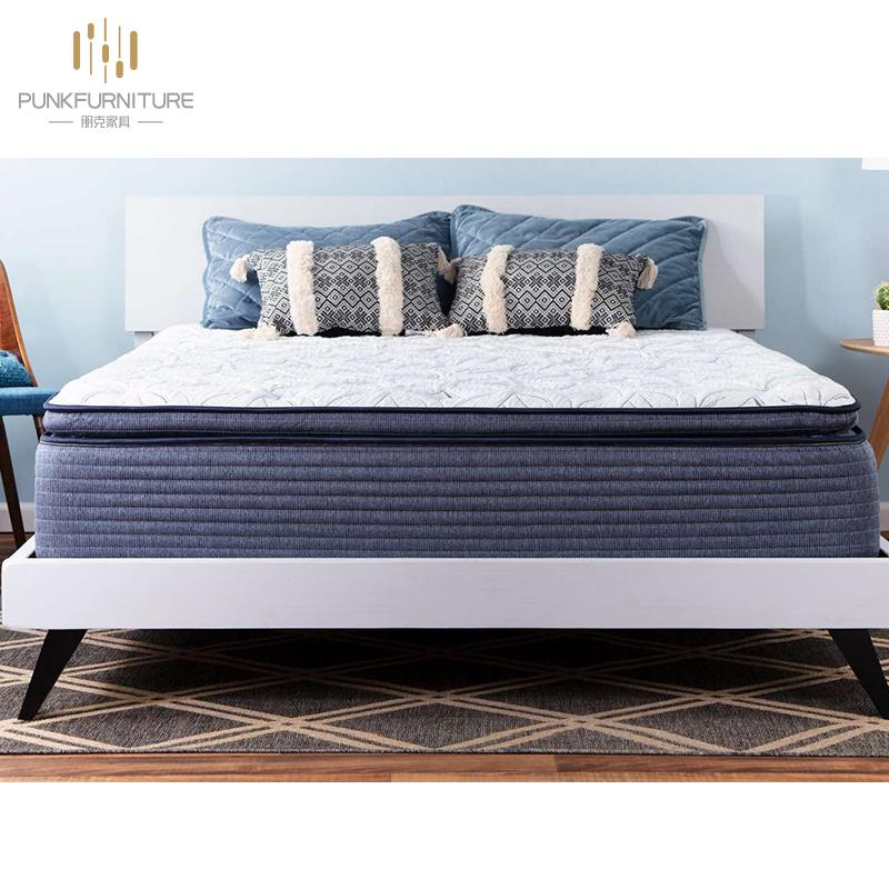 "Double layers 13"" mygel memory foam pillow top hybrid spring mattress - Jozy Mattress | Jozy.net"