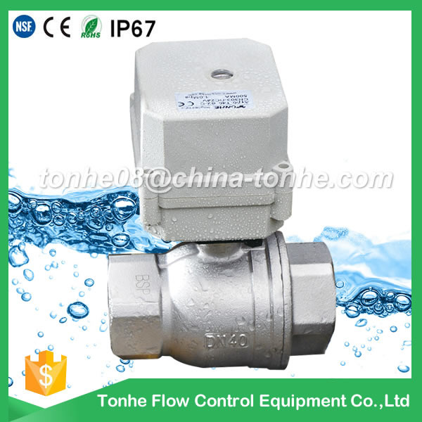 "<strong>1</strong> <strong>1</strong>/2"" 110v 220v 230v stainless steel motorized ball electric valve dn40"