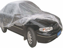 2017 PE newly clear disposable plastic car cover 4.8m*7.5m*0.03mm