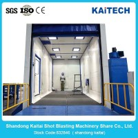 china auto sand blasting machine/room for sale