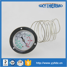 Stainless steel industrial series bayonet ring capillary thermometer