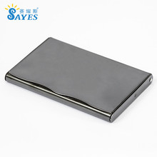 personalized engrave pocket stainless steel custom business card case metal