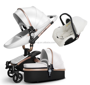 2018 Most Popular PU leather Material Baby Pram and Baby Stroller New Type