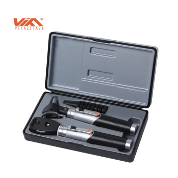 High Quality Durable Fiber Optic Otoscope Ophthalmoscope set