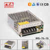 MS-75-15 15v DC output switching power supply 75W mini smps power supply for led lights