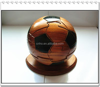 wood toys for kids ball wood puzzles football 3d jigsaw puzzle