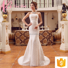 Suzhou factory lace appliques mermaid cheap custom made plus size wedding dress