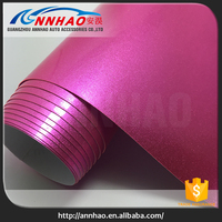 High Quality 1.52*20m Air Bubble Free PVC Pink Pearl Chrome Vinyl