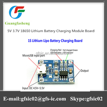 Best selling 5V 3.7V 18650 Lithium Battery Charging Module Board