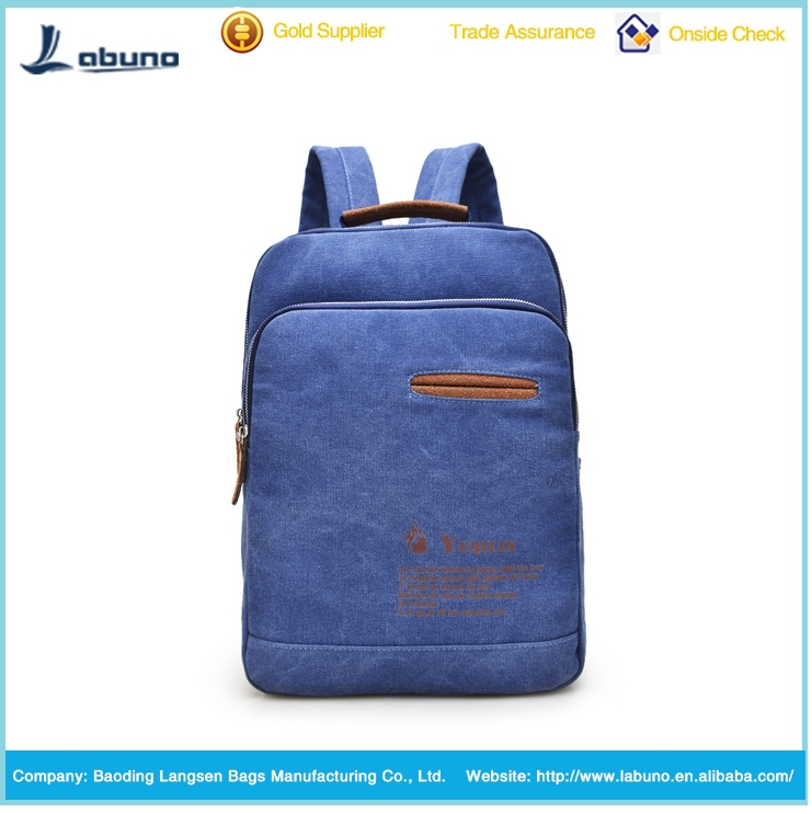New arrival backpack design fashion leisure canvas backpack for school