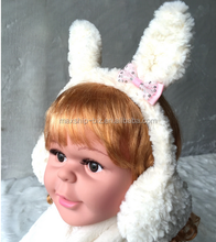 Cute Baby Rabbit Ear Sherpa Earmuff Earmuff With Bow Knot