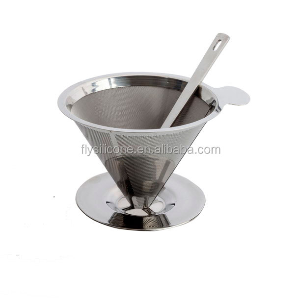 Paperless 304 Stainless Steel Metal Type Stainless Steel Coffee Brewer Coffee Filter