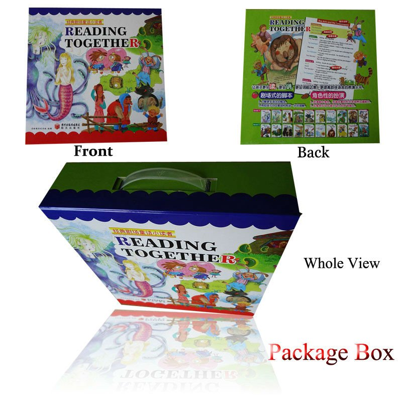 English story books series with children reading pen to experience fairy tale world