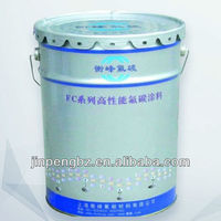 Printed outside and metal handle steel bucket with lid