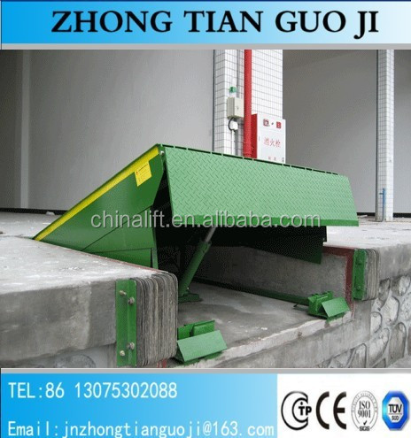 CE approved 10 ton hydraulic fixed portable mini dock ramps dock leveler