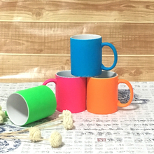 11oz cheap colorful neon ceramic mug for sublimation photo print