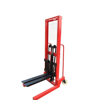 Hand manual pallet operated stacker hydraulic 1.6m lifting pallet stacker forklift