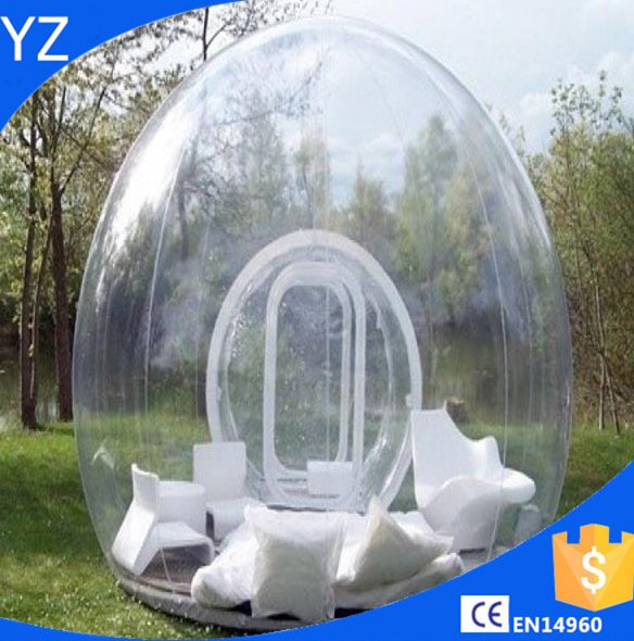 igloo inflatable clear tent/large inflatable tent