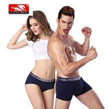 2016 wholesale Knitted fabric breathable sexy couple underwear