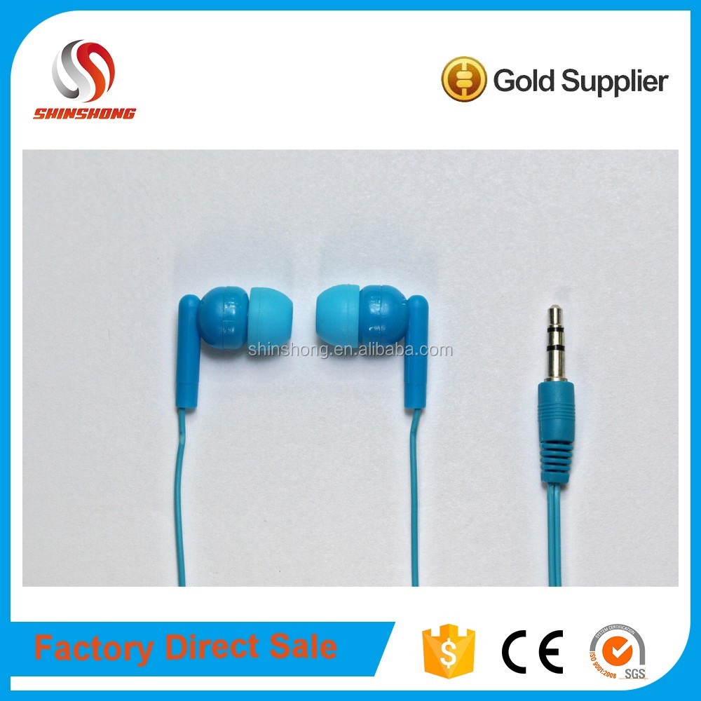 electronic products bulk items disposable earphone earpod blue earbud for mp3 player