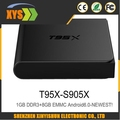NEW smart tv box T95X Android 6.0 TV Box S905X Quad Core 2.4G Wifi Kodi16.1 1G /8G 2+8/16gMemory Smart android tv Box