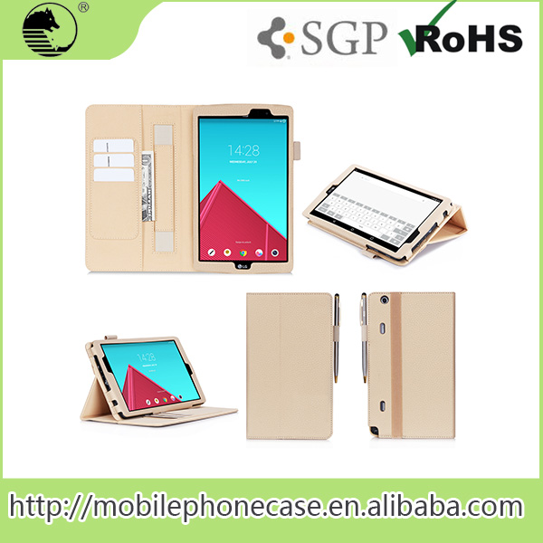 Hot Selling Wholesale Flip Folio Wallet Pu Leather Case For LG GPAD VK815
